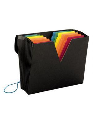 ColorVue Expanding File with SuperTab; 13 Pocket; Letter; Black/Asstd.
