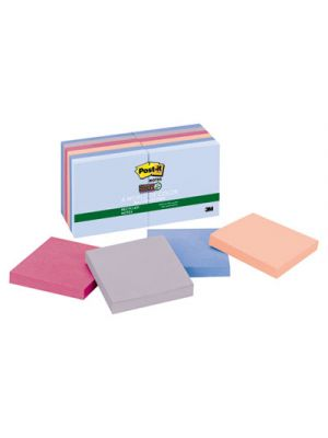 Recycled Notes in Bali Colors, 3 x 3, 90-Sheet, 12/Pack