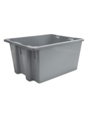 Palletote Box, 9.72gal, Gray, 10/Carton