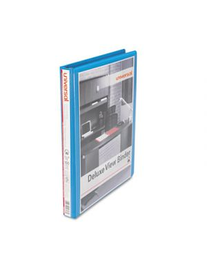 Deluxe Round Ring View Binder, 1/2