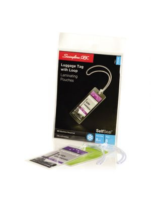 SelfSeal Single-Sided Luggage-Tag Laminating Sheets, 8mil, 2 7/8 x 4 5/8, 5/Pack