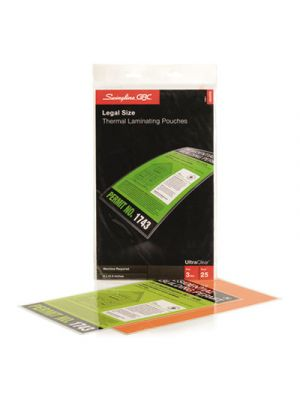 UltraClear Thermal Laminating Pouches, 3 mil, 9 x 14 1/2, 25/Pack