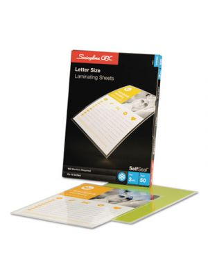 SelfSeal Single-Sided Letter-Size Laminating Sheets, 3mil, 9 x 12, 50/Pack