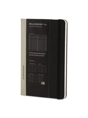 Professional Notebook, Ruled, 8 1/4 x 5, Black Cover, 240 Sheets