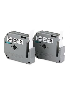 M Series Tape Cartridges for P-Touch Labelers, 1/2