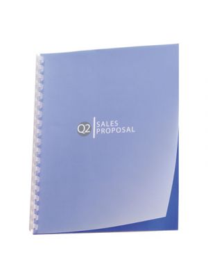 Design View Presentation Binding System Covers, 11 x 8-1/2, Frost, 25/Pack