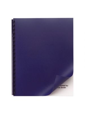 Opaque Plastic Presentation Binding System Covers, 11 x 8-1/2, Navy, 50/Pack