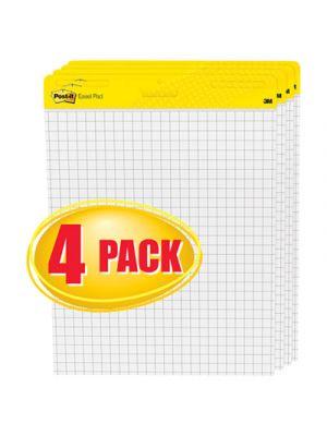 Self Stick Easel Pads, Quadrille, 25 x 30, White, 4 30 Sheet Pads/Carton