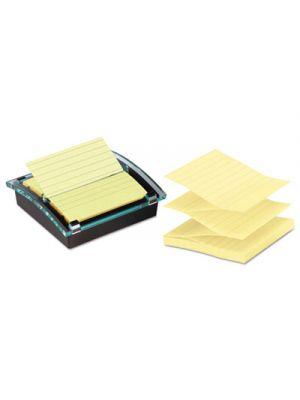 Pop-up Note Dispenser/Value Pack, 4 x 4 Self-Stick Notes, Black/Clear