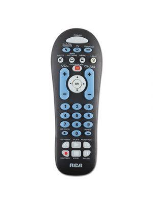 Big Button Three-Device Universal Remote, Black