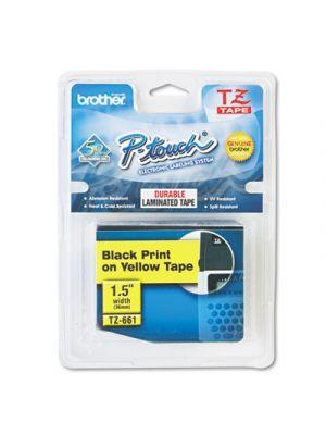 TZe Standard Adhesive Laminated Labeling Tape, 1-1/2