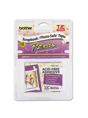TZ Photo-Safe Tape Cartridge for P-Touch Labelers, 1/2