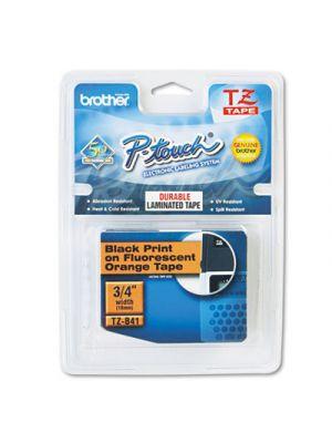 TZ Standard Adhesive Laminated Labeling Tape, 3/4