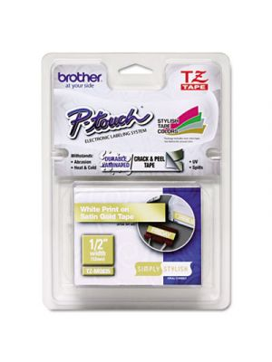 TZ Standard Adhesive Laminated Labeling Tape, 1/2