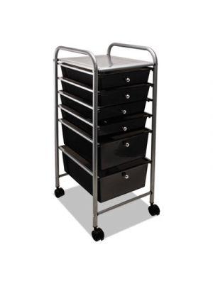 Portable Drawer Organizer, 13w x 15 3/8d x 32 1/8h, Smoke/Matte Gray
