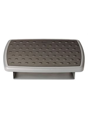 Adjustable Height/Tilt Footrest, Nonskid Platform, 18w x 13d x 4h, Charcoal Gray