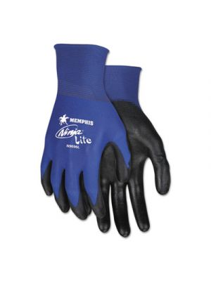 Ultra Tech Tactile Dexterity Work Gloves, Blue/Black, X-Large, 1 Dozen