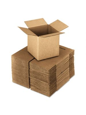 Brown Corrugated - Cubed Fixed-Depth Shipping Boxes, 24l x 24w x 24h, 10/Bundle