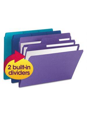 SuperTab Organizer Folder; 1/3 Cut Top Tab; Assorted; 3/Pack