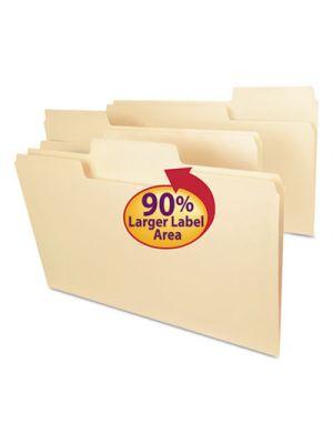 SuperTab Guide Height Reinforced Folders; Top Tab; Legal; Manila; 100/Box