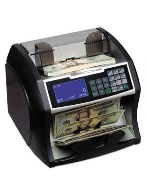 Electric Bill Counter w/Counterfeit Detection, 900-1400 Bills/Min, Black/Silver