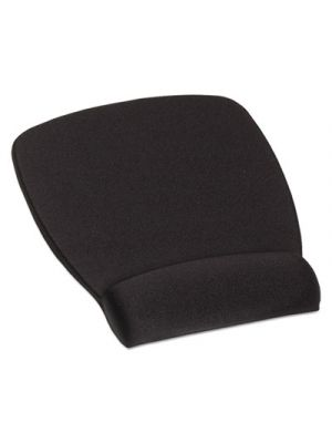 Antimicrobial Foam Mouse Pad Wrist Rest, Nonskid Base, Black