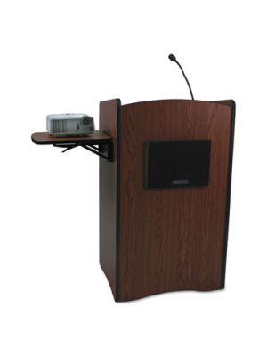 Multimedia Smart Computer Lectern, 25-1/2w x 20-1/4d x 43-1/2h, Mahogany