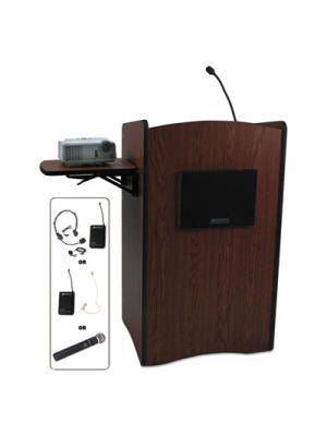 Multimedia Smart Computer Wireless Lectern, 25-1/2w x 20-1/4d x 43-1/2h,Mahogany