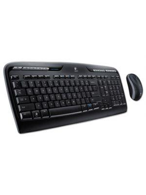 MK320 Wireless Desktop Set, Keyboard/Mouse, USB, Black