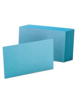 Unruled Index Cards, 4 x 6, Blue, 100/Pack