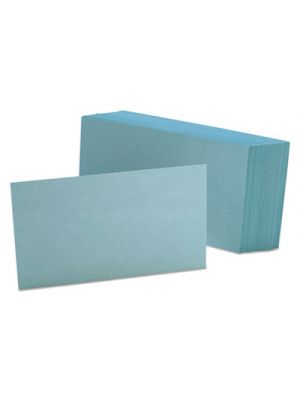 Unruled Index Cards, 3 x 5, Blue, 100/Pack