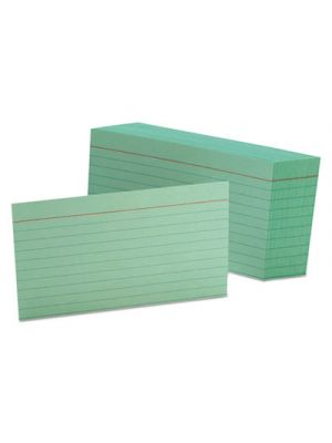 Ruled Index Cards, 3 x 5, Green, 100/Pack