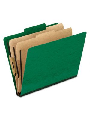 Six-Section Colored Classification Folders; Letter; 2/5 Tab; Green; 10/Box