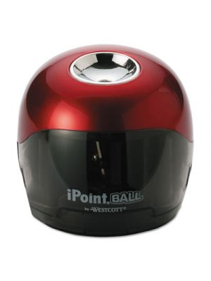 Ball Battery Sharpener, Red/Black, 3w x 3d x 3 1/3h