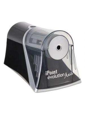 Evolution Axis Pencil Sharpener, Black/Silver, 4 1/4 w x 7d x 4 3/4h