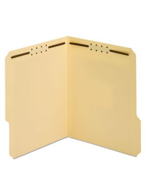 Top Tab Fastener Folder; 1/3 Cut Top Tab; Letter; 18 Point; Manila; 50/Box