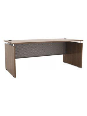 Alera Sedina Series Straight Front Desk Shell, 66w x 30d x 29.5h, Modern Walnut