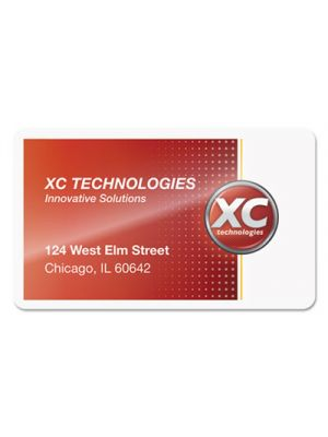 Laminating Pouches, 5mil, 2 1/4 x 3 3/4, Business Card, 100/Pack