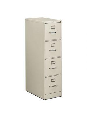 510 Series Four-Drawer, Full-Suspension File, Letter, 52h x25d, Light Gray