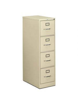 510 Series Four-Drawer, Full-Suspension File, Letter, 52h x25d, Putty