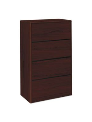 10700 Series Four Drawer Lateral File, 36w x 20d x 59 1/8h, Mahogany