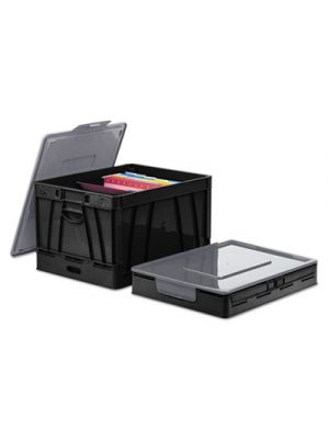 Collapsible Crate; 17 1/4 x 14 1/4 x 10 1/2; Black/Gray; 2/Pack