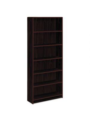 1890 Series Bookcase, Six Shelf, 36w x 11 1/2d x 84h, Mahogany