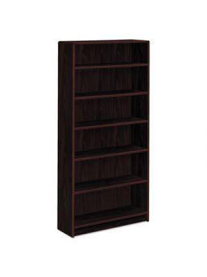 1890 Series Bookcase, Six Shelf, 36w x 11 1/2d x 72 5/8h, Mahogany