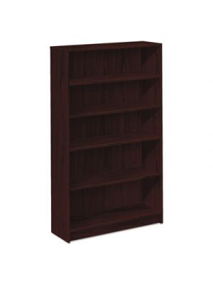1870 Series Bookcase, Five Shelf, 36w x 11 1/2d x 60 1/8h, Mahogany