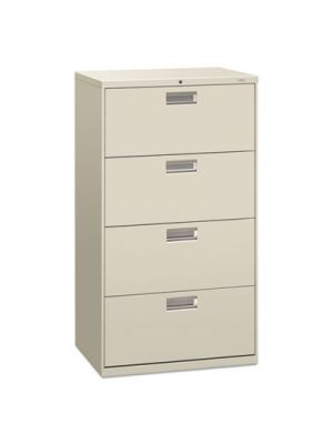 600 Series Four-Drawer Lateral File, 30w x 19-1/4d, Light Gray