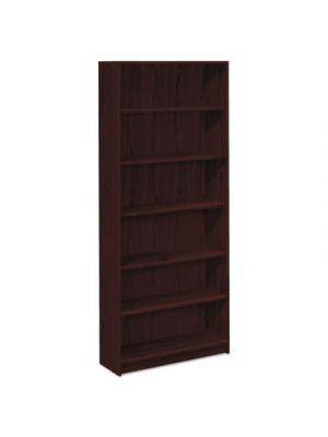 1870 Series Bookcase, Six Shelf, 36w x 11 1/2d x 84h, Mahogany