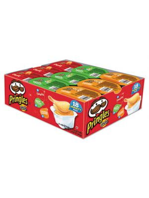 Potato Chips, Variety Pack, 0.74 oz Canister, 18/Box