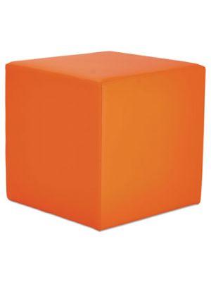 Alera WE Series Collaboration Seating, Cube Bench, 18 x 18 x 18, Mandarin