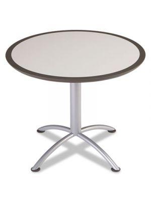iLand Table, Dura Edge, Round Seated Style, 36 dia x 29h, Gray/Silver